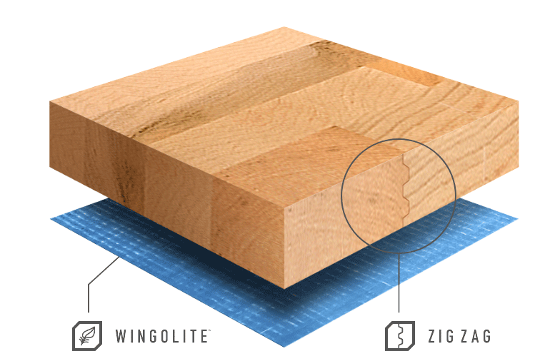 Zig-Zag joint design with Wingolite composite floor sample